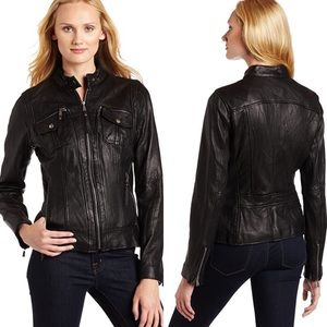 Michael Kors moto leather jacket